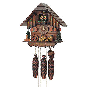 Chalet Cuckoo Clocks Cuckoo Clock 8-day-movement Chalet-Style 31cm by Anton Schneider