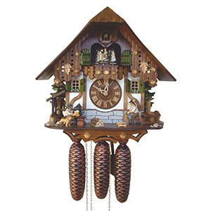 Chalet Cuckoo Clocks Cuckoo Clock 8-day-movement Chalet-Style 32cm by Anton Schneider