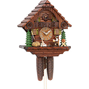 Chalet Cuckoo Clocks Cuckoo Clock 8-day-movement Chalet-Style 32cm by Hekas
