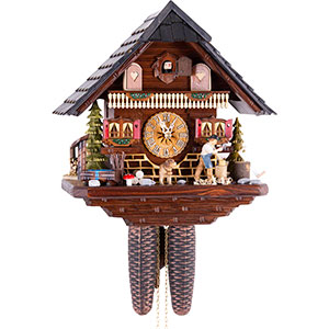 Chalet Cuckoo Clocks Cuckoo Clock 8-day-movement Chalet-Style 33cm by Hekas