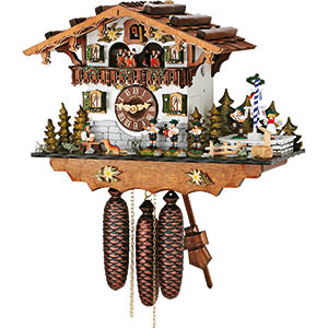 Chalet Cuckoo Clocks Cuckoo Clock 8-day-movement Chalet-Style 33cm by Hubert Herr