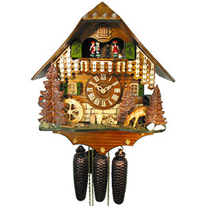 Chalet Cuckoo Clocks Cuckoo Clock 8-day-movement Chalet-Style 35cm by August Schwer
