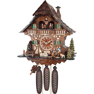 Chalet Cuckoo Clocks Cuckoo Clock 8-day-movement Chalet-Style 35cm by Engstler