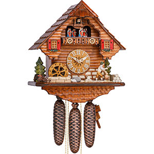 Chalet Cuckoo Clocks Cuckoo Clock 8-day-movement Chalet-Style 36cm by Hekas