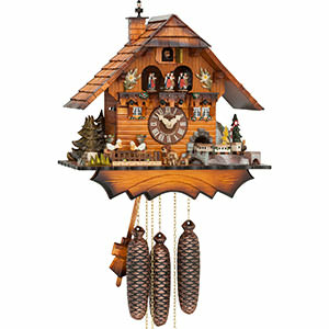 Chalet Cuckoo Clocks Cuckoo Clock 8-day-movement Chalet-Style 36cm by Hubert Herr