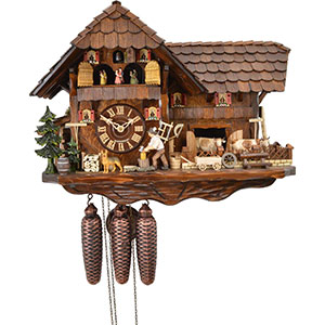 Chalet Cuckoo Clocks Cuckoo Clock 8-day-movement Chalet-Style 38cm by August Schwer