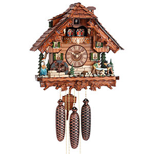 Chalet Cuckoo Clocks Cuckoo Clock 8-day-movement Chalet-Style 38cm by Hekas