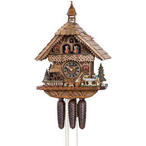 Chalet Cuckoo Clocks Cuckoo Clock 8-day-movement Chalet-Style 39cm by Hönes
