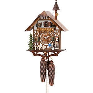 Chalet Cuckoo Clocks Cuckoo Clock 8-day-movement Chalet-Style 39cm by Hekas