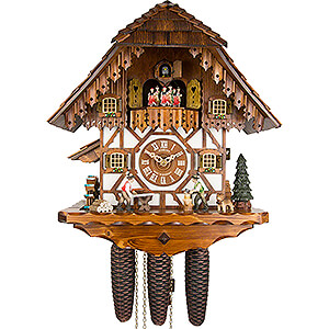 Chalet Cuckoo Clocks Cuckoo Clock 8-day-movement Chalet-Style 40cm by Anton Schneider