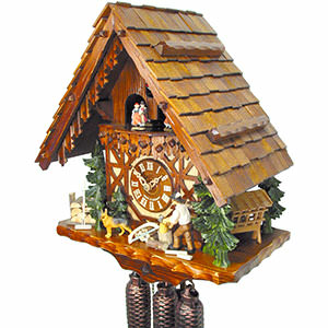 Chalet Cuckoo Clocks Cuckoo Clock 8-day-movement Chalet-Style 40cm by August Schwer