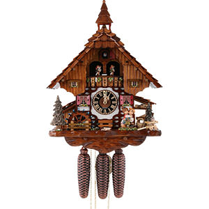 Chalet Cuckoo Clocks Cuckoo Clock 8-day-movement Chalet-Style 40cm by Hönes Uhren