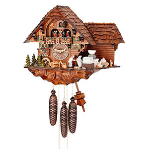 Chalet Cuckoo Clocks Cuckoo Clock 8-day-movement Chalet-Style 40cm by Hubert Herr