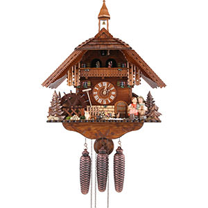 Chalet Cuckoo Clocks Cuckoo Clock 8-day-movement Chalet-Style 41cm by August Schwer