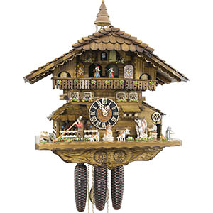 Chalet Cuckoo Clocks Cuckoo Clock 8-day-movement Chalet-Style 41cm by Hönes