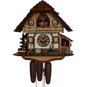 Chalet Cuckoo Clocks Cuckoo Clock 8-day-movement Chalet-Style 42cm by Anton Schneider