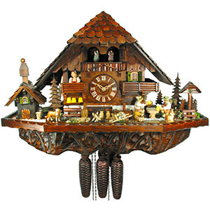 Chalet Cuckoo Clocks Cuckoo Clock 8-day-movement Chalet-Style 42cm by August Schwer