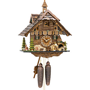 Chalet Cuckoo Clocks Cuckoo Clock 8-day-movement Chalet-Style 42cm by Engstler