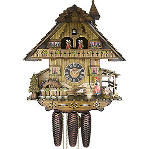 Chalet Cuckoo Clocks Cuckoo Clock 8-day-movement Chalet-Style 42cm by Hönes