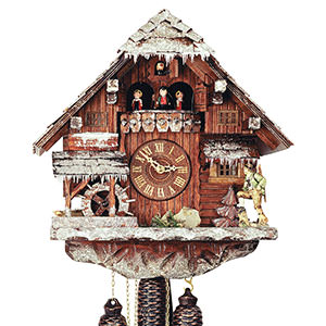 Chalet Cuckoo Clocks Cuckoo Clock 8-day-movement Chalet-Style 42cm by Rombach & Haas