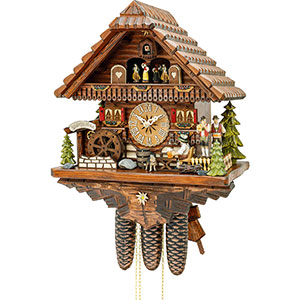 Chalet Cuckoo Clocks Cuckoo Clock 8-day-movement Chalet-Style 43cm by Hekas