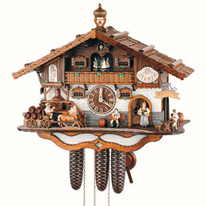 Chalet Cuckoo Clocks Cuckoo Clock 8-day-movement Chalet-Style 44cm by Anton Schneider