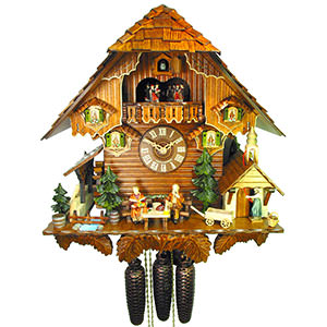 Chalet Cuckoo Clocks Cuckoo Clock 8-day-movement Chalet-Style 44cm by August Schwer