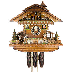 Chalet Cuckoo Clocks Cuckoo Clock 8-day-movement Chalet-Style 44cm by Hönes