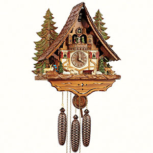 Chalet Cuckoo Clocks Cuckoo Clock 8-day-movement Chalet-Style 45cm by Anton Schneider