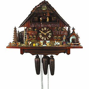 Chalet Cuckoo Clocks Cuckoo Clock 8-day-movement Chalet-Style 45cm by August Schwer