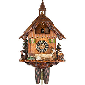 Chalet Cuckoo Clocks Cuckoo Clock 8-day-movement Chalet-Style 45cm by Hönes