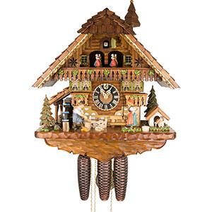 Chalet Cuckoo Clocks Cuckoo Clock 8-day-movement Chalet-Style 46cm by Hönes