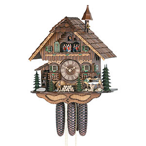 Chalet Cuckoo Clocks Cuckoo Clock 8-day-movement Chalet-Style 46cm by Hekas