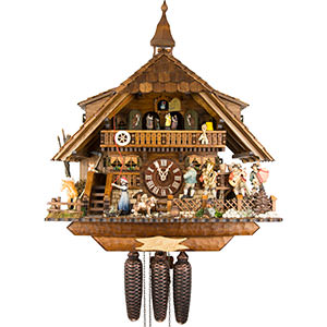 Chalet Cuckoo Clocks Cuckoo Clock 8-day-movement Chalet-Style 47cm by August Schwer