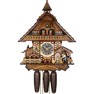 Chalet Cuckoo Clocks Cuckoo Clock 8-day-movement Chalet-Style 47cm by Hönes