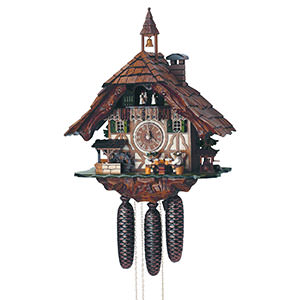 Chalet Cuckoo Clocks Cuckoo Clock 8-day-movement Chalet-Style 48cm by Anton Schneider