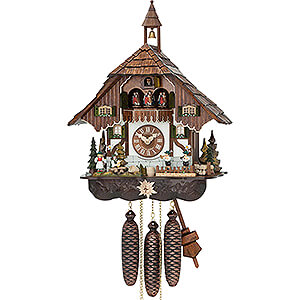 Chalet Cuckoo Clocks Cuckoo Clock 8-day-movement Chalet-Style 48cm by Hubert Herr