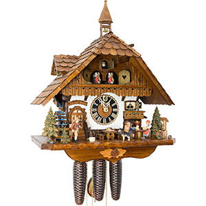 Chalet Cuckoo Clocks Cuckoo Clock 8-day-movement Chalet-Style 51cm by Hönes