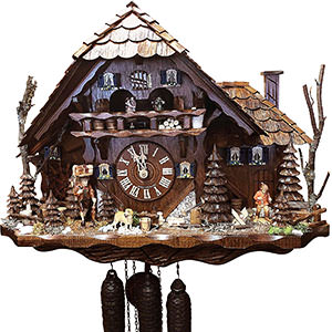 Chalet Cuckoo Clocks Cuckoo Clock 8-day-movement Chalet-Style 52cm by August Schwer