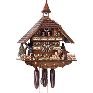 Chalet Cuckoo Clocks Cuckoo Clock 8-day-movement Chalet-Style 52cm by Hönes