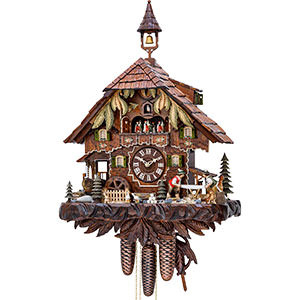 Chalet Cuckoo Clocks Cuckoo Clock 8-day-movement Chalet-Style 52cm by Hekas