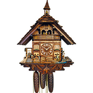 Chalet Cuckoo Clocks Cuckoo Clock 8-day-movement Chalet-Style 53cm by Anton Schneider