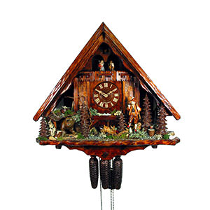 Chalet Cuckoo Clocks Cuckoo Clock 8-day-movement Chalet-Style 54cm by August Schwer