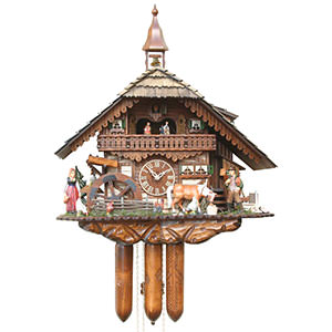 Chalet Cuckoo Clocks Cuckoo Clock 8-day-movement Chalet-Style 56cm by Rombach & Haas