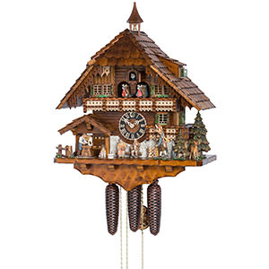 Chalet Cuckoo Clocks Cuckoo Clock 8-day-movement Chalet-Style 57cm by Hönes