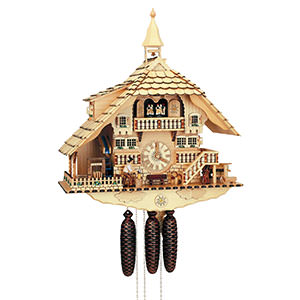 Chalet Cuckoo Clocks Cuckoo Clock 8-day-movement Chalet-Style 58cm by Anton Schneider