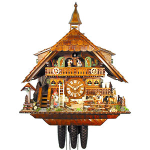 Chalet Cuckoo Clocks Cuckoo Clock 8-day-movement Chalet-Style 58cm by August Schwer
