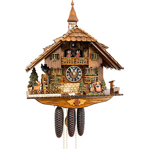 Chalet Cuckoo Clocks Cuckoo Clock 8-day-movement Chalet-Style 58cm by Hönes