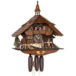 Chalet Cuckoo Clocks Cuckoo Clock 8-day-movement Chalet-Style 60cm by Hönes