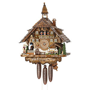 Chalet Cuckoo Clocks Cuckoo Clock 8-day-movement Chalet-Style 60cm by Hekas